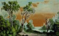 louisiana bayou scene by george david coulon