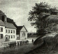 soldiers marching in st. helena by hubert cornish