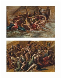 the massacre of the innocents (+ christ asleep during the tempest; pair) by luigi ademollo
