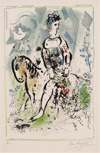 moon pierrot by marc chagall