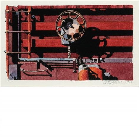 untitled rolling stock series by robert cottingham