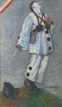 pierrot blessé by gaston girbal