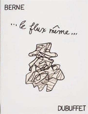 le flux même webel 1186 1242 edition originale 16 poèmes calligraphiés illustrés par jean dubuffet de 26 dessins reproduits en by jean dubuffet