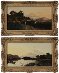 mountain landscapes (pair) by edwin henry boddington