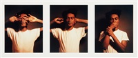 untitled (see no evil, hear no evil, speak no evil) (3 works) by carrie mae weems