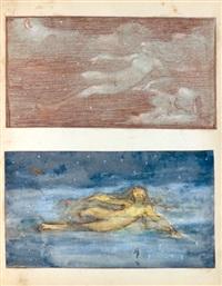 un carton à dessin comprenant une série de documents du ministère de l'instruction publique et des beaux arts (4 albums w/138 works) by hector joseph lemaire