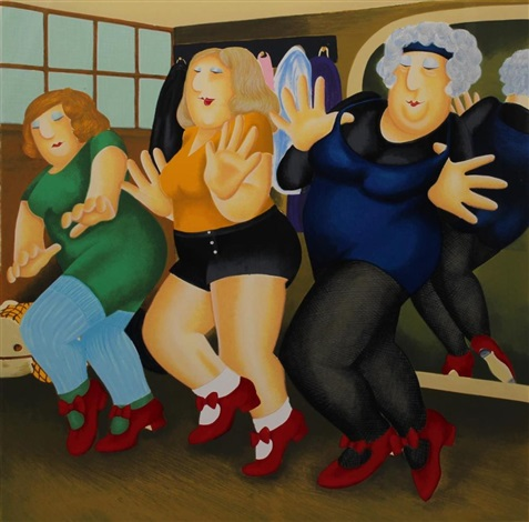 Beryl Cook Ltd Ed Silkscreen Print 124/395 Line Dancing