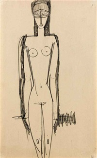 nu debout by amedeo modigliani
