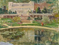 vue du musée des arts modernes prise du bassin des nymphéas by alexandre rigotard