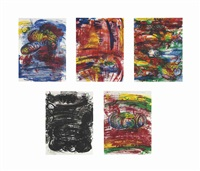 red shift (set of 5) by carroll dunham