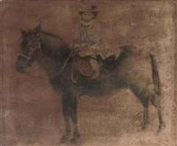 a child on a horseback by boris zaborov
