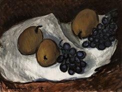 natura morta con pere e uva by giuliano emprin
