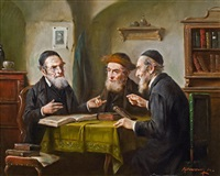 drei jüdische gelehrte by lajos koloszvary