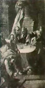 magdalena salbt jesus die fube im hause des pharisaers   simon by caspar franz sambach