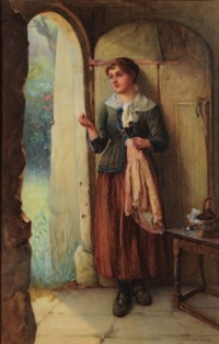 at the cottage door by william harris weatherhead