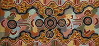 men's ceremony/kangaroo dreaming by tjakamarra michael nelson