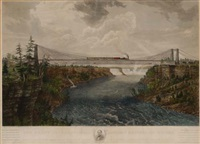 the great international railway suspension bridge (after ferdinand richardt) by de lay glover