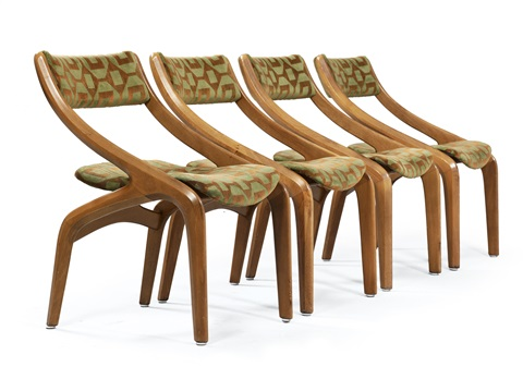 chairs set of 4 by luigi colani