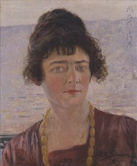 martha. portrait de femme by paolo simoni