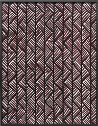 big print #1 (lahala tweet - cotton chevron, fall design dorothy draper, courtesy schumacher & co.), 2007 by annette kelm