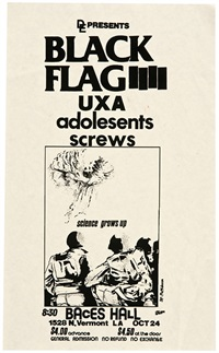 various show flyers (8) by raymond pettibon