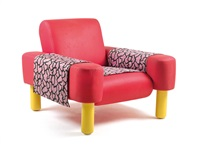 oberoi armchair (fabric designed by nathalie du pasquier) by george j. sowden