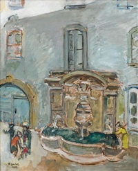 la fontaine de vence by francis gruber