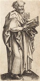 der apostel petrus by martin schongauer