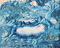 paysage et animaux fantastiques by jules agard