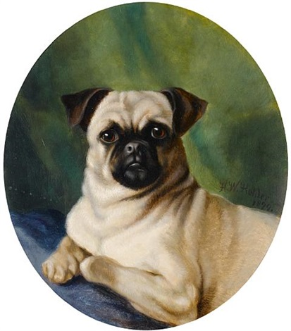 portrait of a pug by hw holder