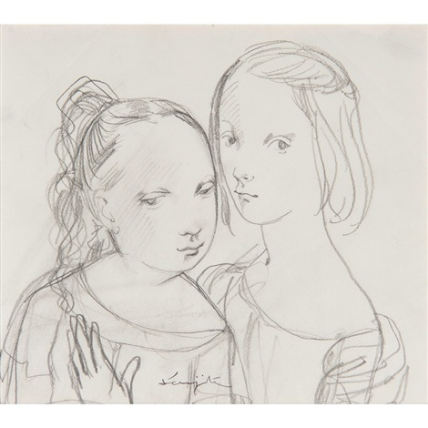 two girls by léonard tsuguharu foujita