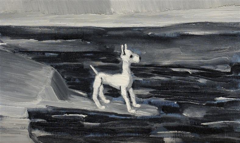 landskap med hund by gunnar loberg