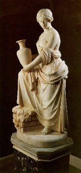figure of rebecca at the well by benjamin edward spence