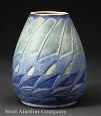 vase decorated by auerlia arbo by newcomb college pottery