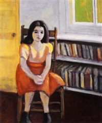 seated young girl by jori smith