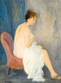 piccolo nudo con drappo bianco by renato vernizzi