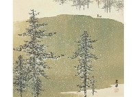cold mountain and snow by shunkyo yamamoto