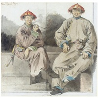 van tagin's page with another mandarin attendant by william alexander