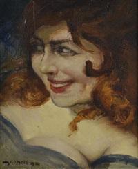 portrait de jeune femme by ernest marneffe