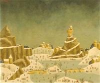 scène de neige by alain thomas