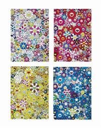 an homas to yves klein, multicolor; an homage to monogold, 1960 c; an homage to ikb, 1957 c; an homage to monopink, 1960 c ( 4 works) by takashi murakami