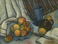 pommes, pichet et théière by suzanne valadon