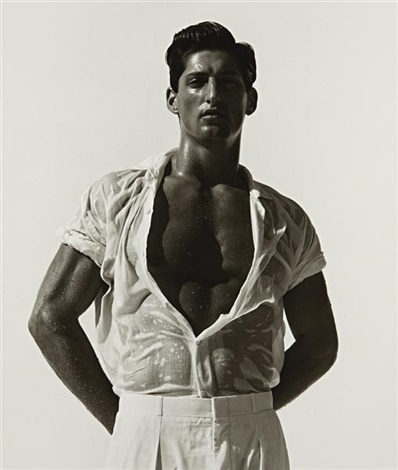 tony in white hollywood by herb ritts