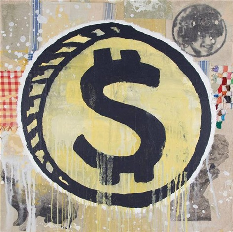 dollar painting 2 by donald baechler