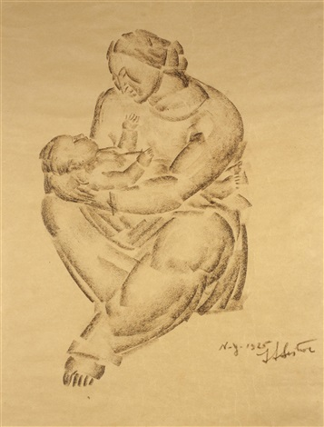 mutter mit kind auf dem arm by ivan mestrovic