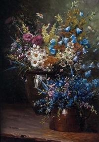 großer und kleiner wiesenblumenstrauß by camilla göbl-wahl