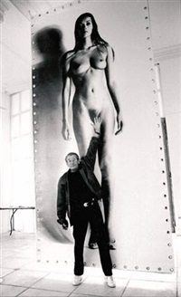 portrait d'helmut newton ou reach for the stars, monte-carlo by silas shabelewska