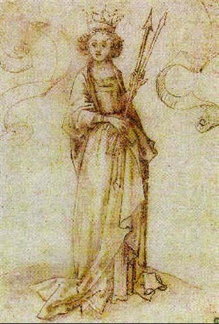 saint ursula by hans holbein the elder