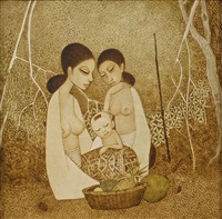mothers and child by cheong soo pieng
