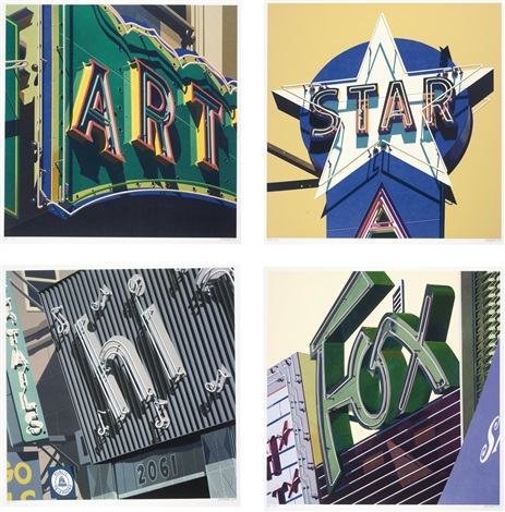 american signs portfolio of 12 by robert cottingham
